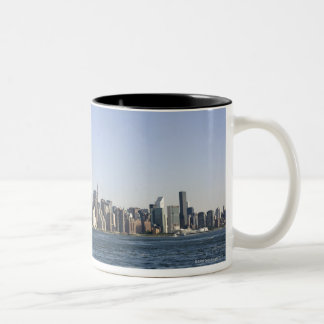 Manhattan Skyline, New York City, NY, USA Two-Tone Coffee Mug