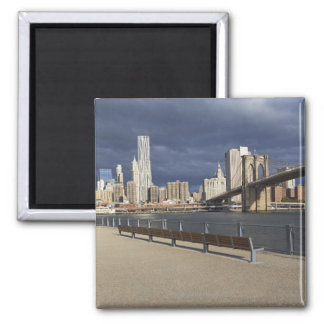 Manhattan skyline, New York City Square Magnet