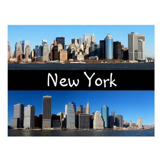 Manhattan Skyline, New York Postcard