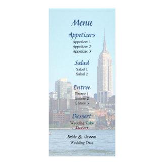 Manhattan Skyline Seen From Hoboken  Wedding Menu Customized Rack Card