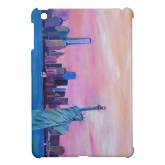 Manhattan Skyline with Statue of Liberty Cover For The iPad Mini