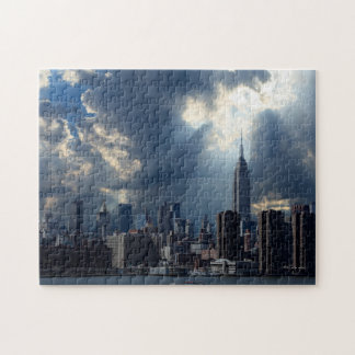 Manhattan Skyline with Storm Clouds Jigsaw Puzzle