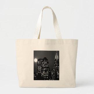 Manhattan Skylines Large Tote Bag