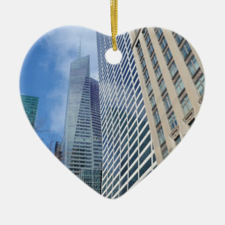 Manhattan Skyscrapers Ceramic Heart Decoration