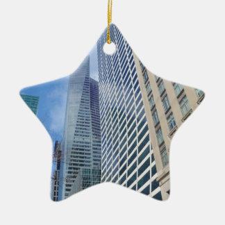 Manhattan Skyscrapers Ceramic Star Decoration