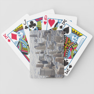 Manhattan Under Cloudy Sky Bicycle Playing Cards