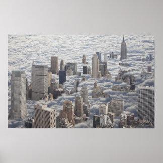 Manhattan Under Cloudy Sky Poster