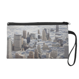 Manhattan Under Cloudy Sky Wristlet
