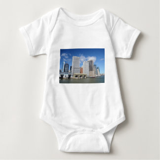 Manhattan viewed from the water. baby bodysuit