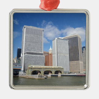 Manhattan viewed from the water. christmas ornament
