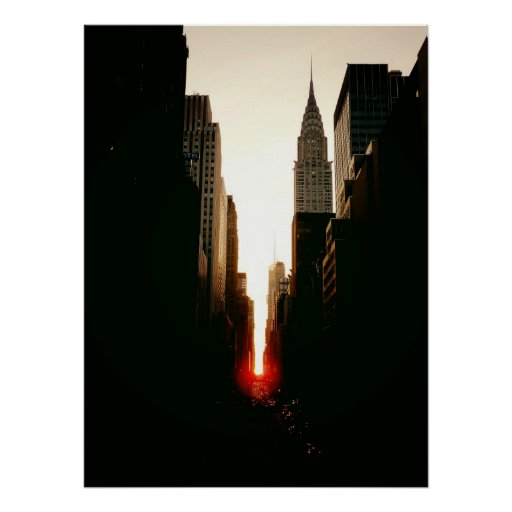 Manhattanhenge and Chrysler Building, All Sizes Posters