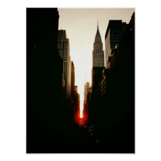 Manhattanhenge and Chrysler Building Small Posters