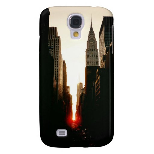 Manhattanhenge Sunset and the Chrysler Building Samsung Galaxy S4 Cases
