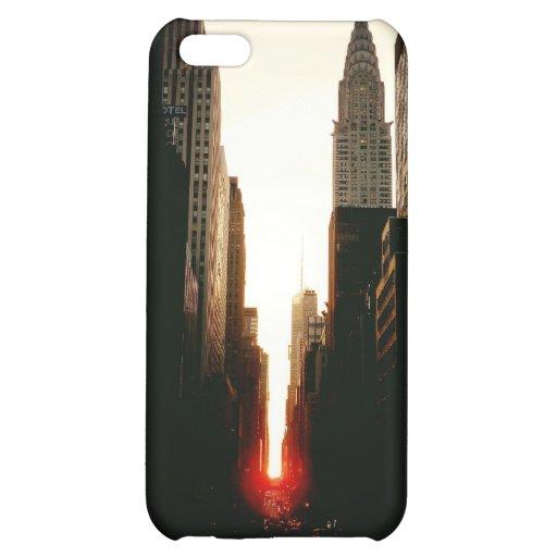 Manhattanhenge Sunset and the Chrysler Building iPhone 5C Case