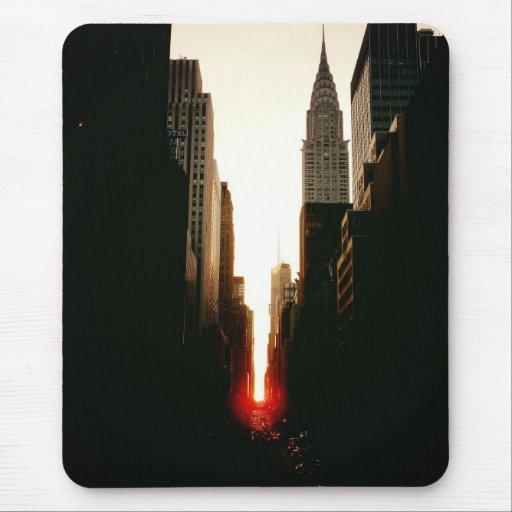 Manhattanhenge Sunset and the Chrysler Building Mousepads