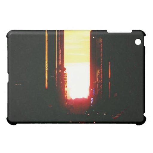 Manhattanhenge Sunset Looking Down 42nd Street iPad Mini Cases
