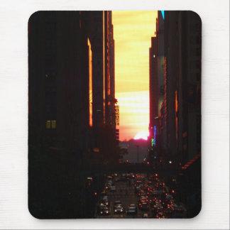 Manhattanhenge Sunset New York City Mouse Pad