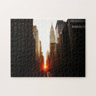 Manhattanhenge Sunset Puzzle - New York City