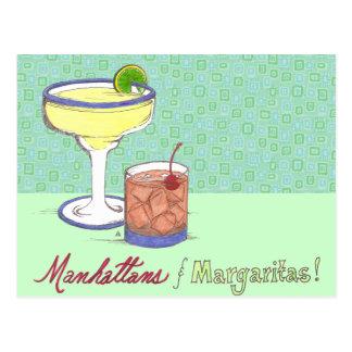 Manhattans & Margaritas | Customizable Post Cards