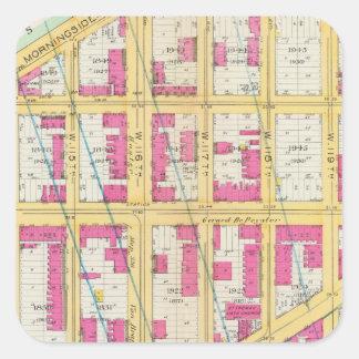 Manhatten, New York 11 Square Sticker