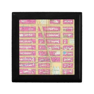 Manhatten, New York 12 Small Square Gift Box
