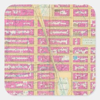 Manhatten, New York 12 Square Sticker