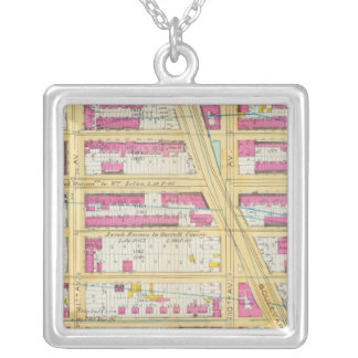 Manhatten, New York 13 Silver Plated Necklace