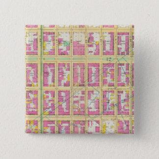 Manhatten, New York 17 15 Cm Square Badge