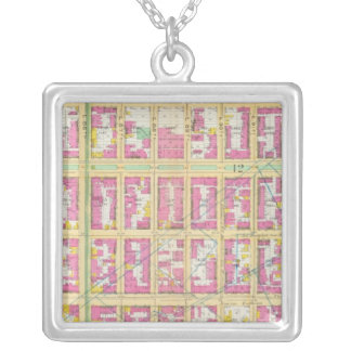 Manhatten, New York 17 Silver Plated Necklace