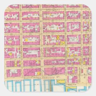 Manhatten, New York 22 Square Sticker