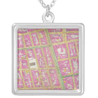 Manhatten, New York 23 Silver Plated Necklace