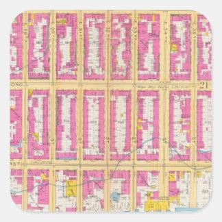 Manhatten, New York 24 Square Sticker