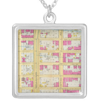 Manhatten, New York 2 Silver Plated Necklace