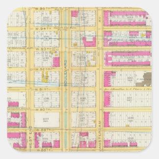 Manhatten, New York 3 Square Sticker