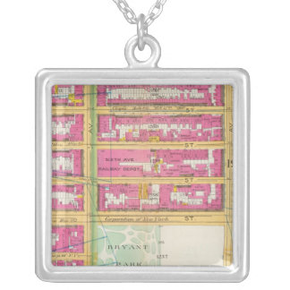 Manhatten, New York 6 Silver Plated Necklace
