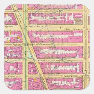Manhatten, New York 7 Square Sticker