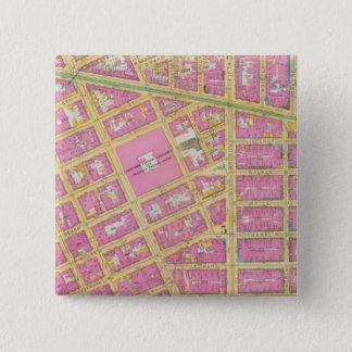 Manhatten, New York 9 15 Cm Square Badge
