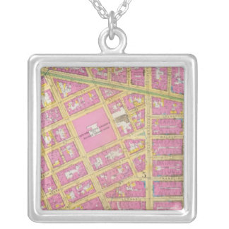 Manhatten, New York 9 Silver Plated Necklace