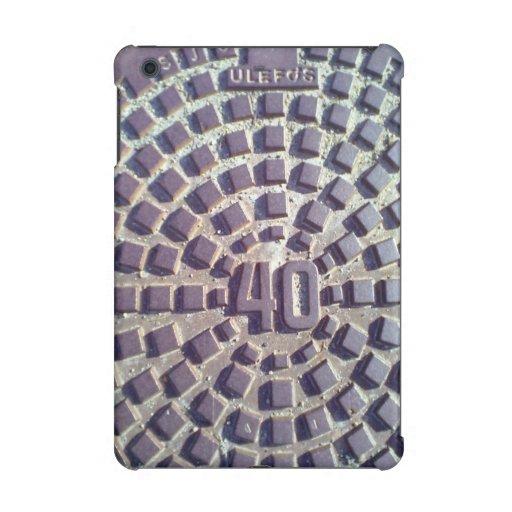 Manhole cover number 40 iPad mini retina covers