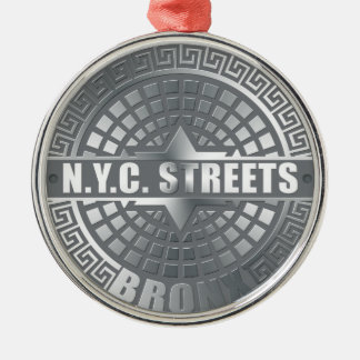 Manhole Covers Bronx Christmas Ornament