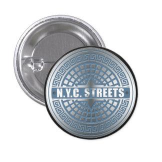 Manhole Covers NYC 3 Cm Round Badge