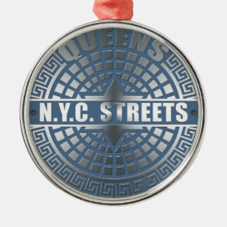 Manhole Covers Queens Silver-Colored Round Decoration