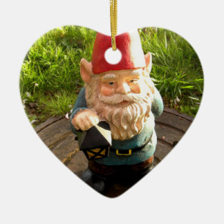 Manhole Gnome Ceramic Heart Decoration