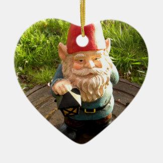 Manhole Gnome Ceramic Heart Decoration