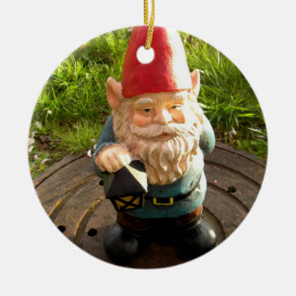 Manhole Gnome Round Ceramic Decoration