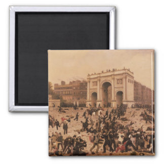 Manhood Suffrage Riots in Hyde Park, 1866 Square Magnet