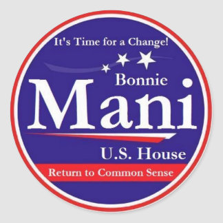 Mani for Congress Classic Round Sticker