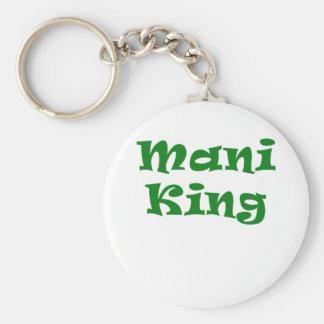 Mani King Basic Round Button Key Ring