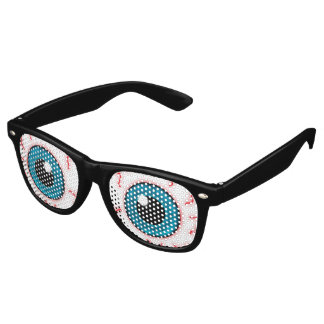 Maniac Bloodshot Eyes Retro Sunglasses