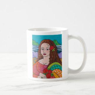 Manic Mona Basic White Mug